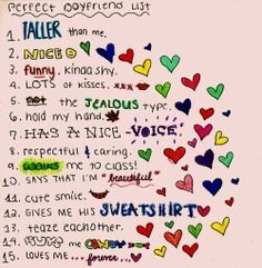 what i want in a relationship list