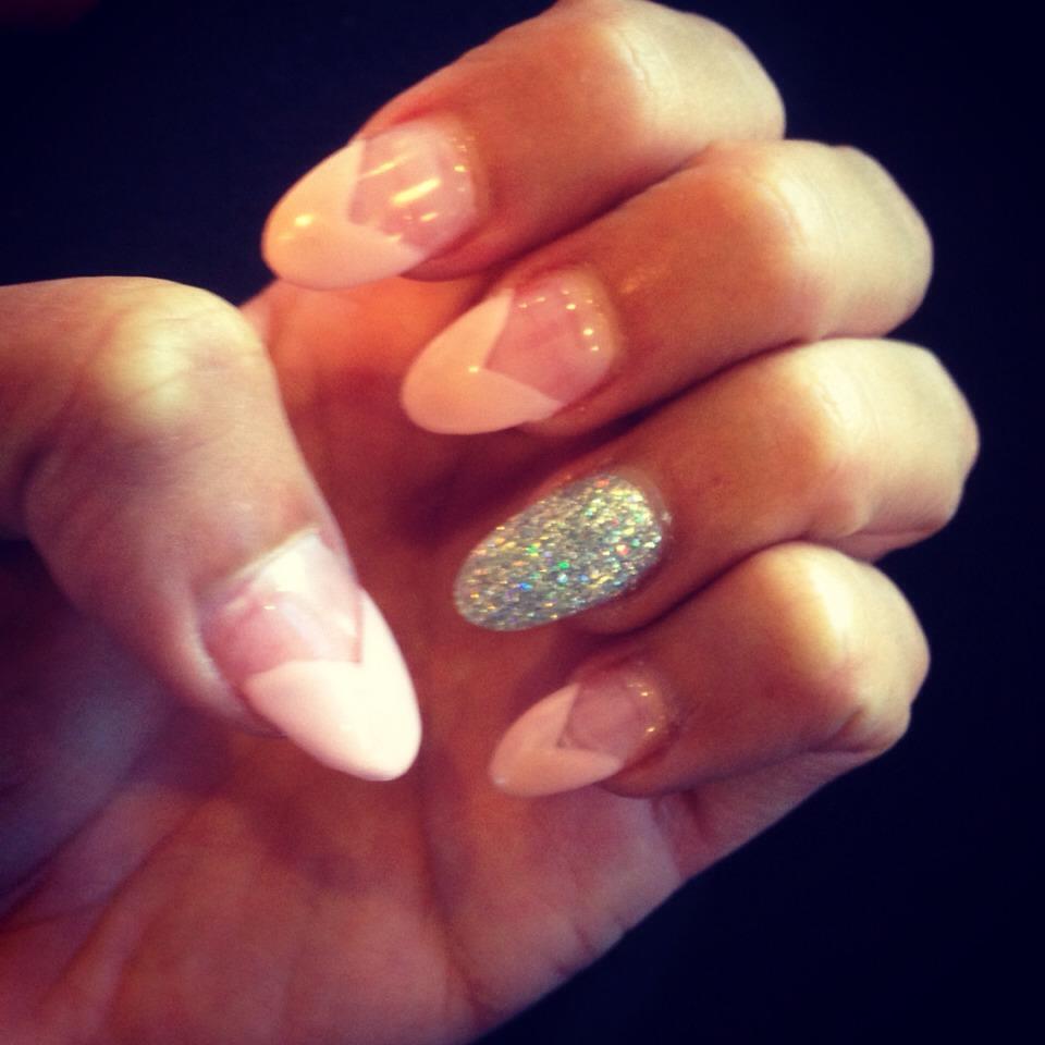 Cute little idea I had💅 my nails again😁