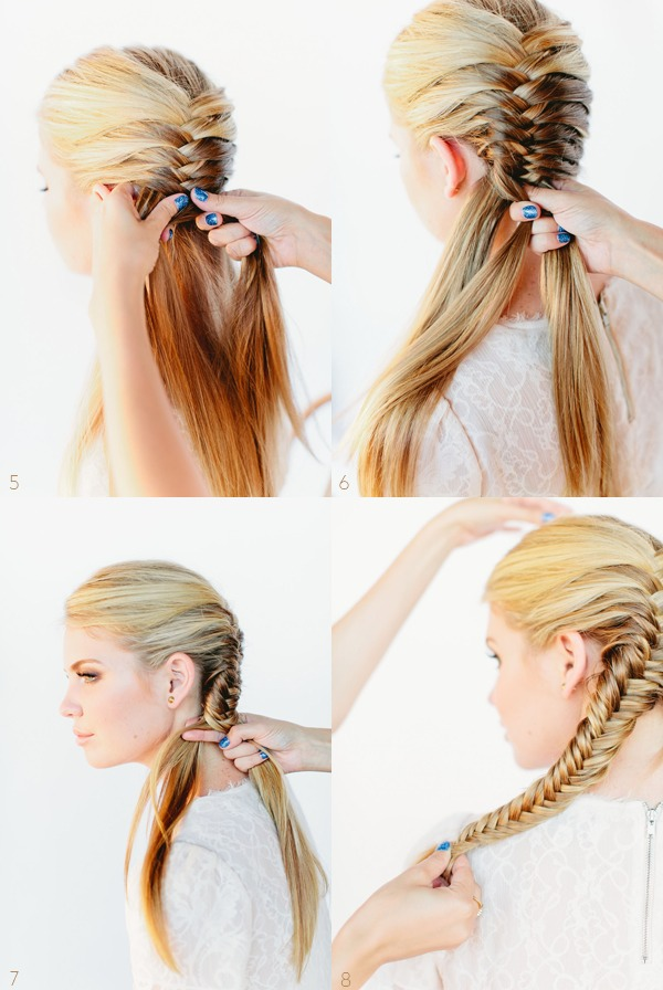 You can either do two fishtails on either side of your head, or one right down the back
