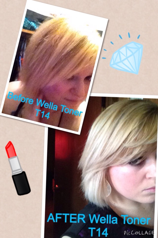 After highlights and Wella toner.