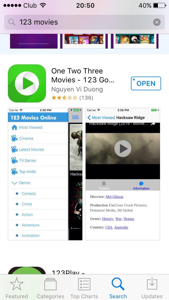 free websites to watch movies on iphone