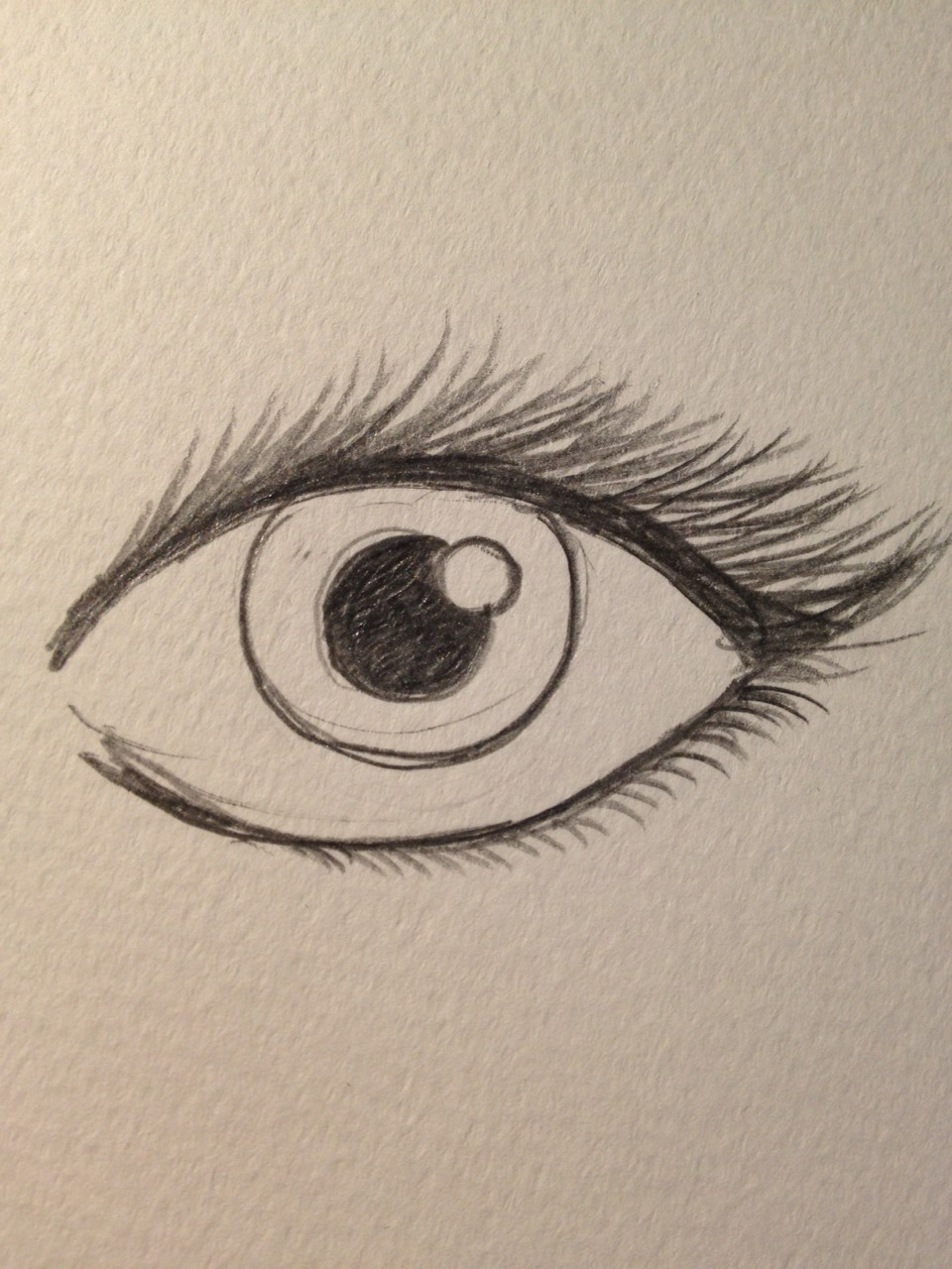 Shade the pupil (the darker the better!)