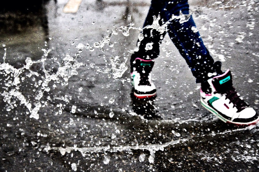 Dance in the rain with a friend, its a fun and a great thing to do!😝
