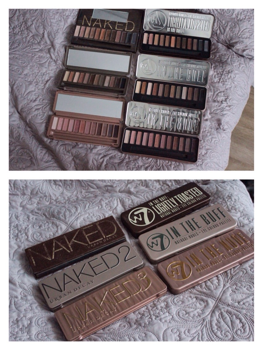 """W7 """"Lightly Toasted,"""" """"In The Buff,"""" and """"In The Nude"""" Eyeshadow Palettes"""
