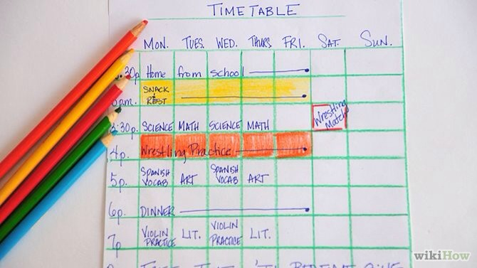 4. Make a Study-timetable, this way you can plan out when you have free time and when you can study you could also attach it to your memo board📝
