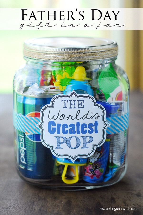 Mason Jar Craft Ideas For Kids Part - 40: I Thought This Was Cute For Young Kids To Make! A Bunch Of POP Stuff