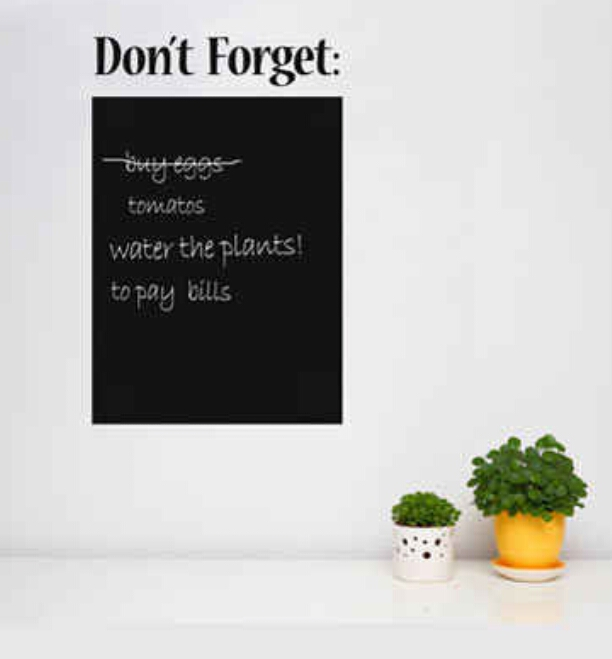 Chalkboard for keeping all your notes in one place. Rather than using scattered, forgotten sticky notes. ($39.90)  http://www.animicausa.com/shop/Home-Accessories/Memo-chalkboard/tpflypage.tpl.html