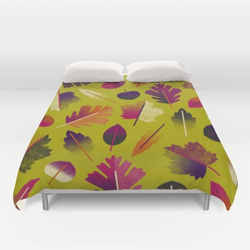 25. A new fall wardrobe for your bed.  https://society6.com/product/fall-leaves-pattern-2xz_duvet-cover#46=342