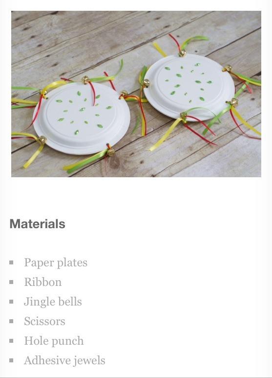 Paper plate tambourines.