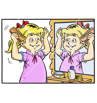 Comb through hair whilst damp