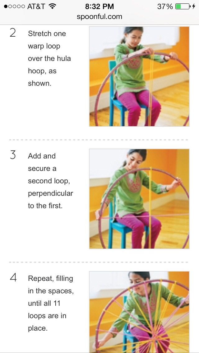 DIY-hula Hoop~tshirt Rug! With