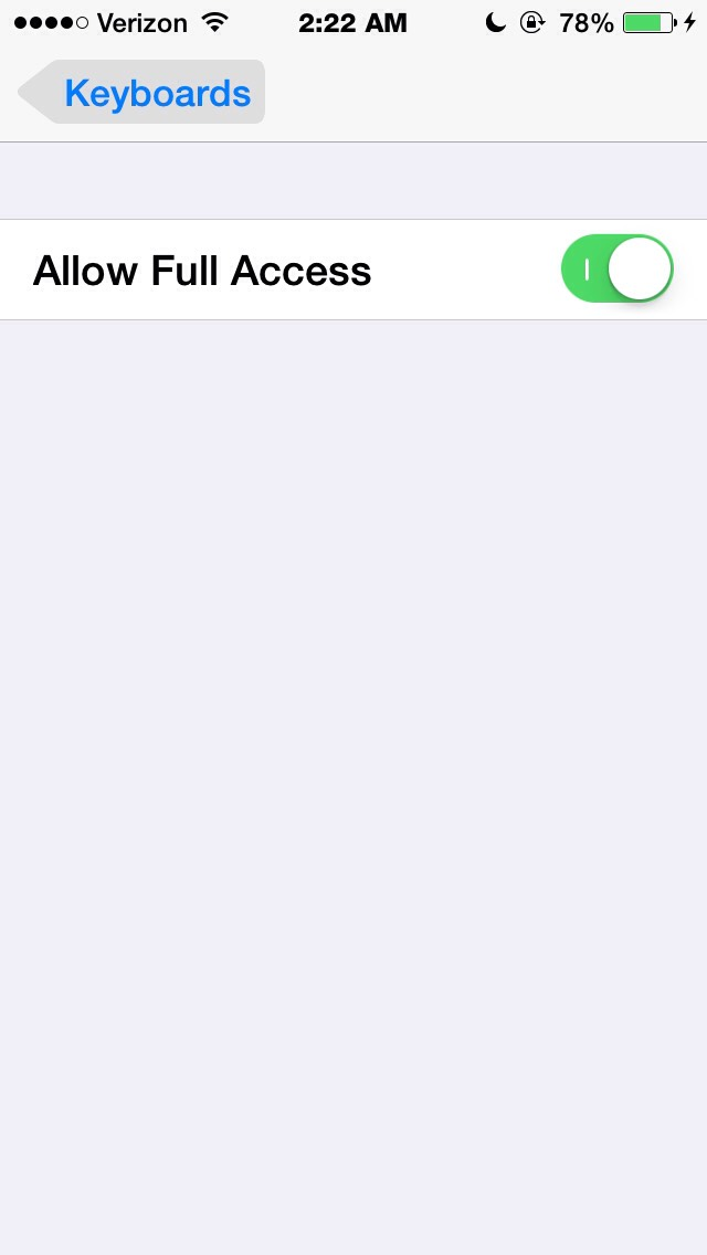 Then alow full access