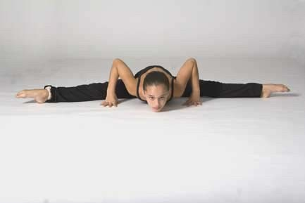 This is another variation of straddle stretch and still works well, especially for beginners. If you aren't advanced this may seem painful. But if you sit with your legs as wide as you can and then lean as far forward as you can. Once you have mastered this out your arms out in a t position.