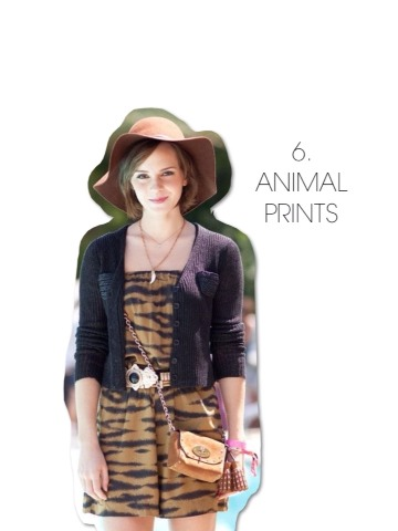 Emma's all about experimenting and wearing fun patterns. A great go-to this spring/summer is to grab your favorite animal-print dress and throw on a floppy hat! It'll give you this effortless boho-chic vibe everyone will love.