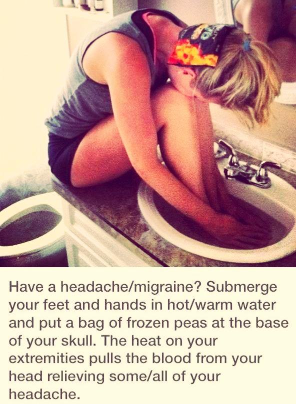 How to cute a headache or migraine
