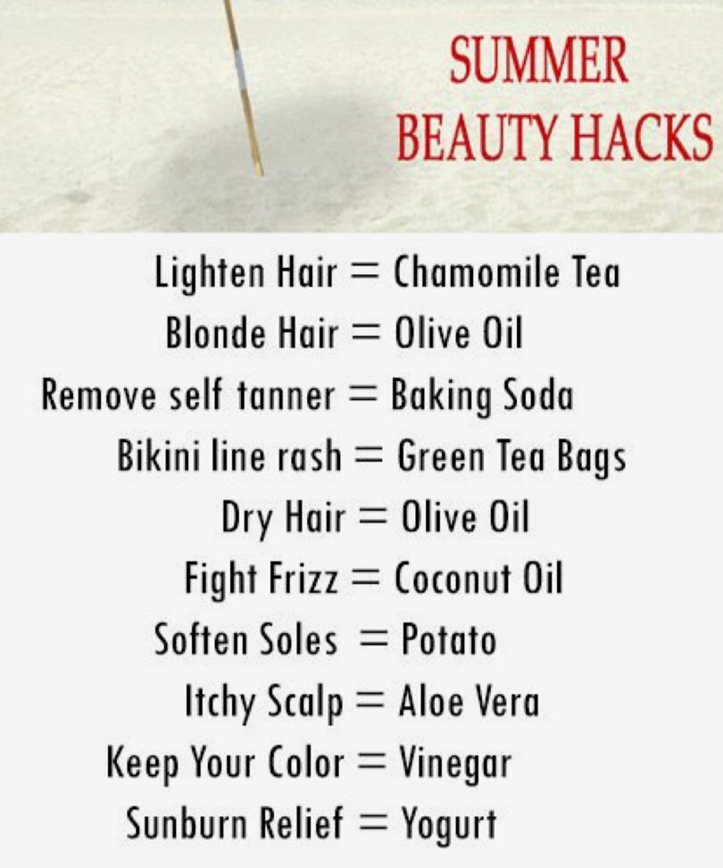 If you want to change your skin & hair for the better this summer, try these!