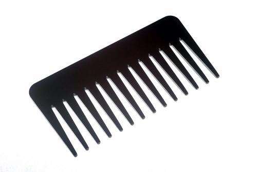 Comb through your hair starting from the ends and working your way up, using a wide toothed comb...