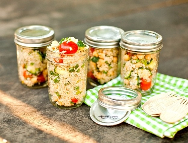 Store salads for picnics or a quick lunch