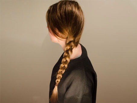 Then just plait your damp, on the verge of dry hair. I do two plaits but depending on how thick your hair is do more.