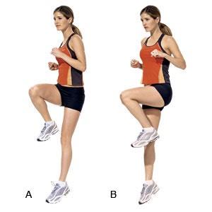 1 minute high knees (each leg)