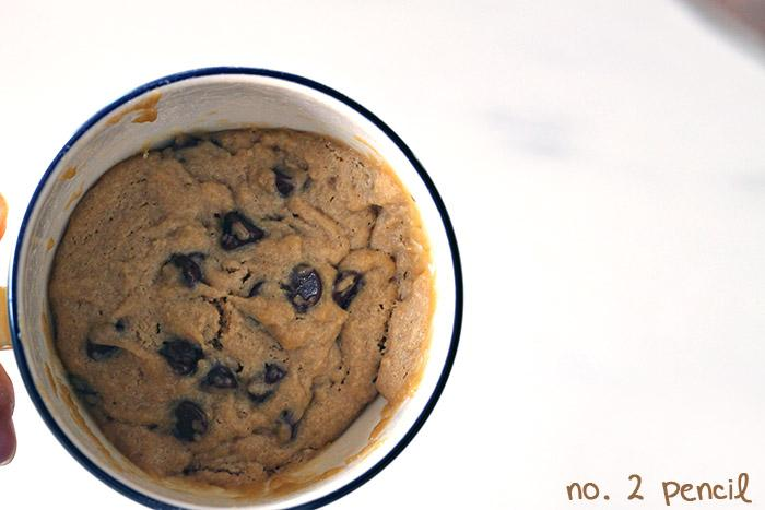 The Yummiest and Easiest Chocolate Chip Cookie in a Cup!