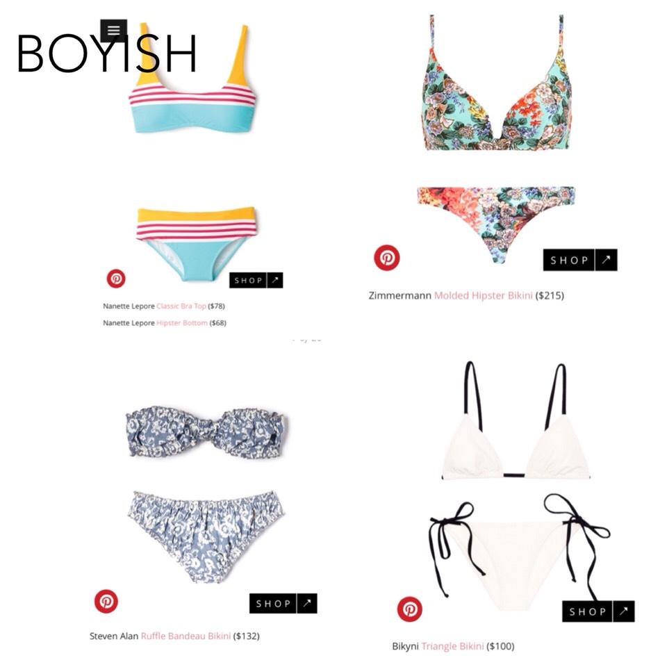 These are good bathingsuits for a boyish bodytype!