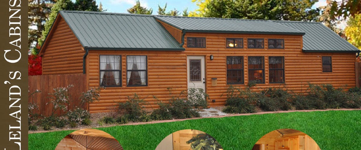 This is a pre-fabricated cabin that can be set up anywhere you want.