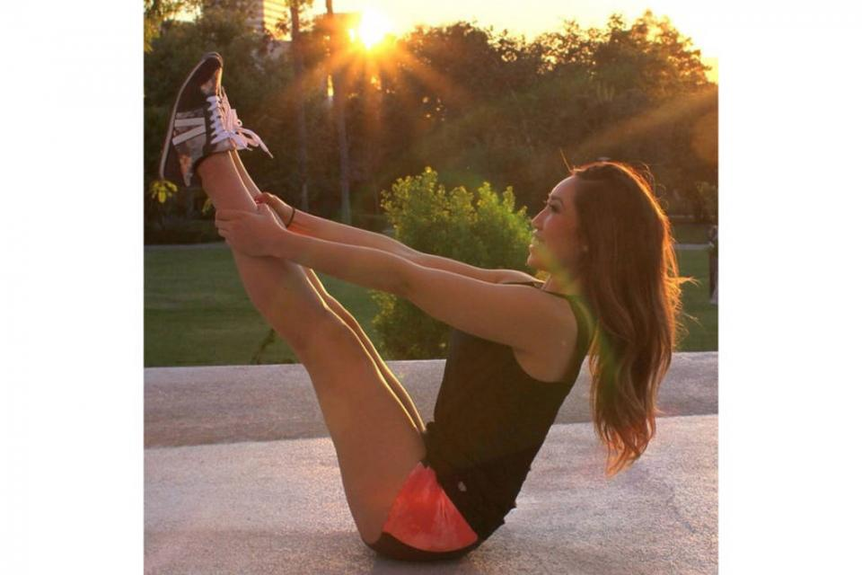 Cassey Ho @blogilates Cassey is the creator behind POP pilates & posts pilates tips & poses.