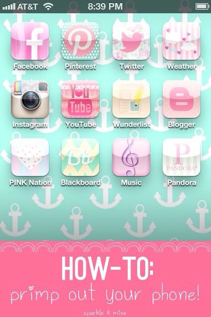Cocoppa is a super great app!! It's can get kinda complicated so follow the advice in this link from a super cool blogger- http://www.sparkleandmineblog.blogspot.com/2013/08/how-to-primp-your-iphone-with-cocoppa.html?m=1