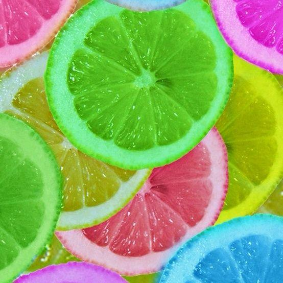 Let oranges or lemons soak in food coloring… Freeze and you could put them in a super cute punch. Cute idea for a bridal or baby shower, or just a hot summer day.