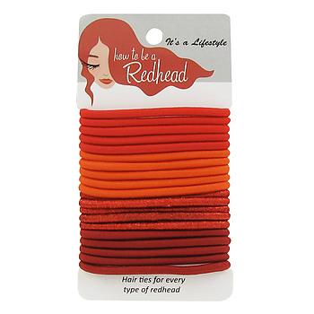 These hair elastic ties come in three shades of red, making any redheaded ponytail look seamless.  (Redhead Hair Ties, $7.97, howtobearedhead.com)