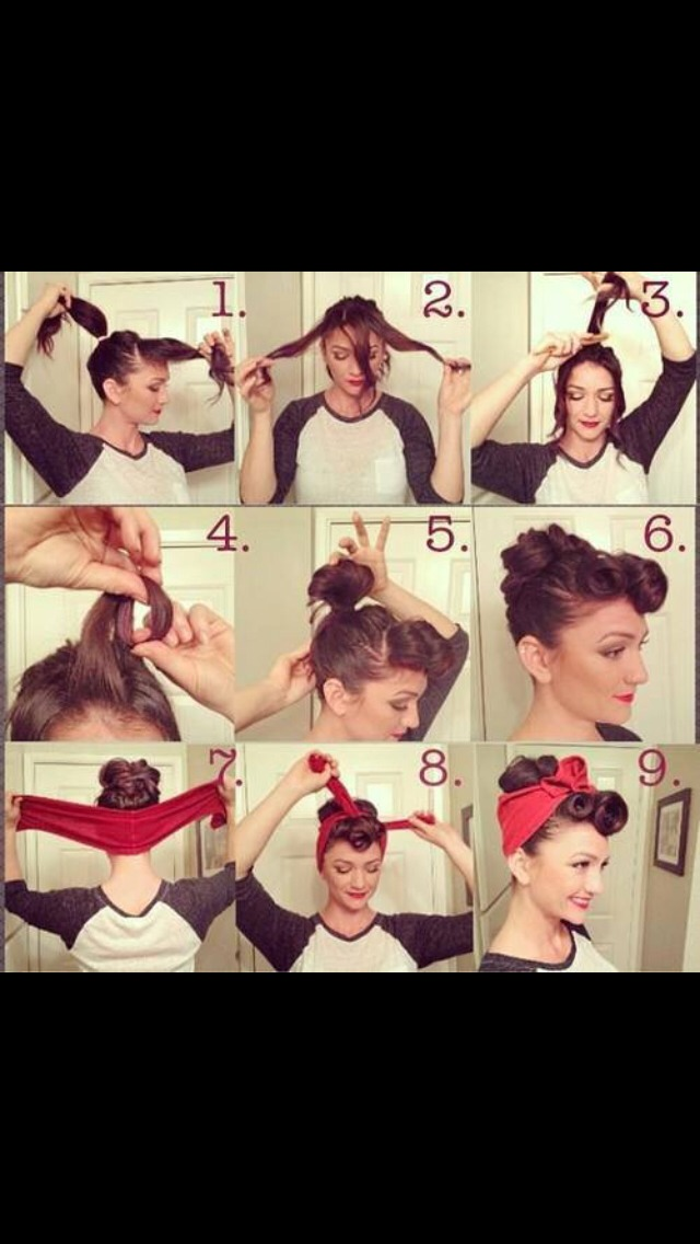 How to get a pin-up / rockabilly hairdo