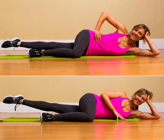 Internal Thigh Lifts: With the straight knee you're required to work all your internal leg muscles.