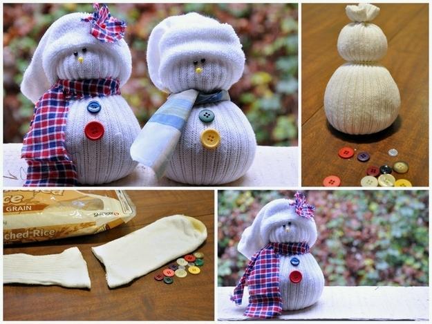 10. Sock Snowmen