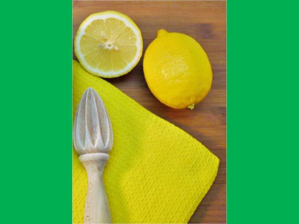 4.Squeeze the lemons and limes into the mug/glass!!!
