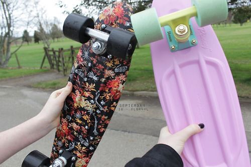 Ride a penny board!! Penny boards are insanely easy to ride once you learn, and trust me, they're worth the money ;)