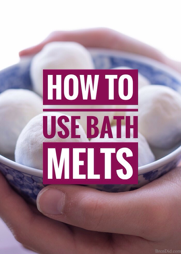 (1) Fill the tub 1-2 inches with hot water, place 1-2bath melts in +allow to melt. Crumble with hands to speed upthe process. (2) Continue filling tub with water of your desired temperature then soak for 20-30 minutes. (3) When exiting the tub be careful;surfaces can be slippery!