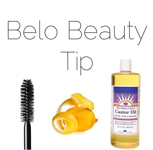 put the lemon peel in the castor oil (for about  a day or two) and apply oil using brush in your lashes and eyebrows! see them grow longer after a few times.