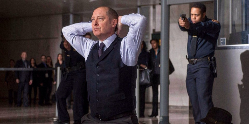 """4. """"The Blacklist"""" (NBC) What it's about: The most wanted criminal (James Spader) surrenders to the FBI and agrees to name names, so long as he works with a rookie agent whom he has no known connection with."""