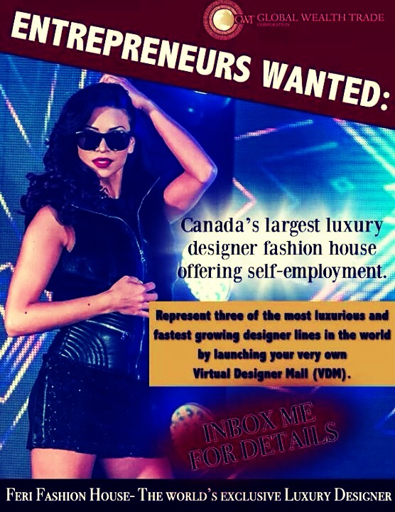 We are taking over the $1.3 trillion industry in Fashion! We are looking for partners that would like to open the Market and make residual income! Get paid for wearing it!