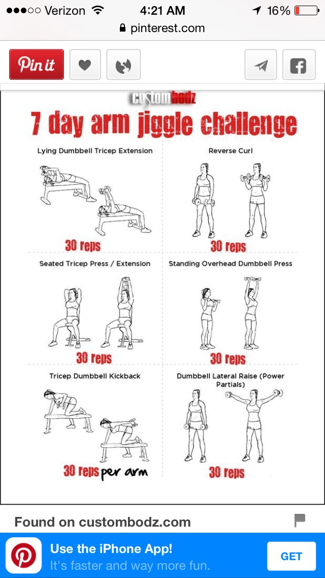 The 7 day arm challenge is amazing... Do it every day