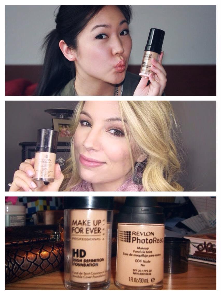 Make Up Forever HD Foundation vs. Revlon Photo Ready Foundation