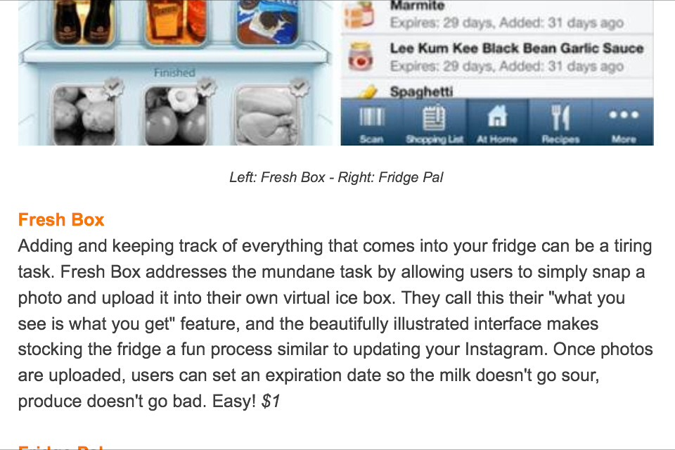 Keep Track of Your Refrigerator