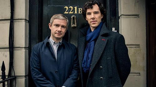 """""""SHERLOCK"""" Thismodernized version of Sherlock Holmes is mesmerizing & it helped make Benedict Cumberbatch & Martin Freeman into international stars. Theonly problem is that there's not enough of it! Only 3 TV movie length episodes are made each season, with several years between the seasons."""