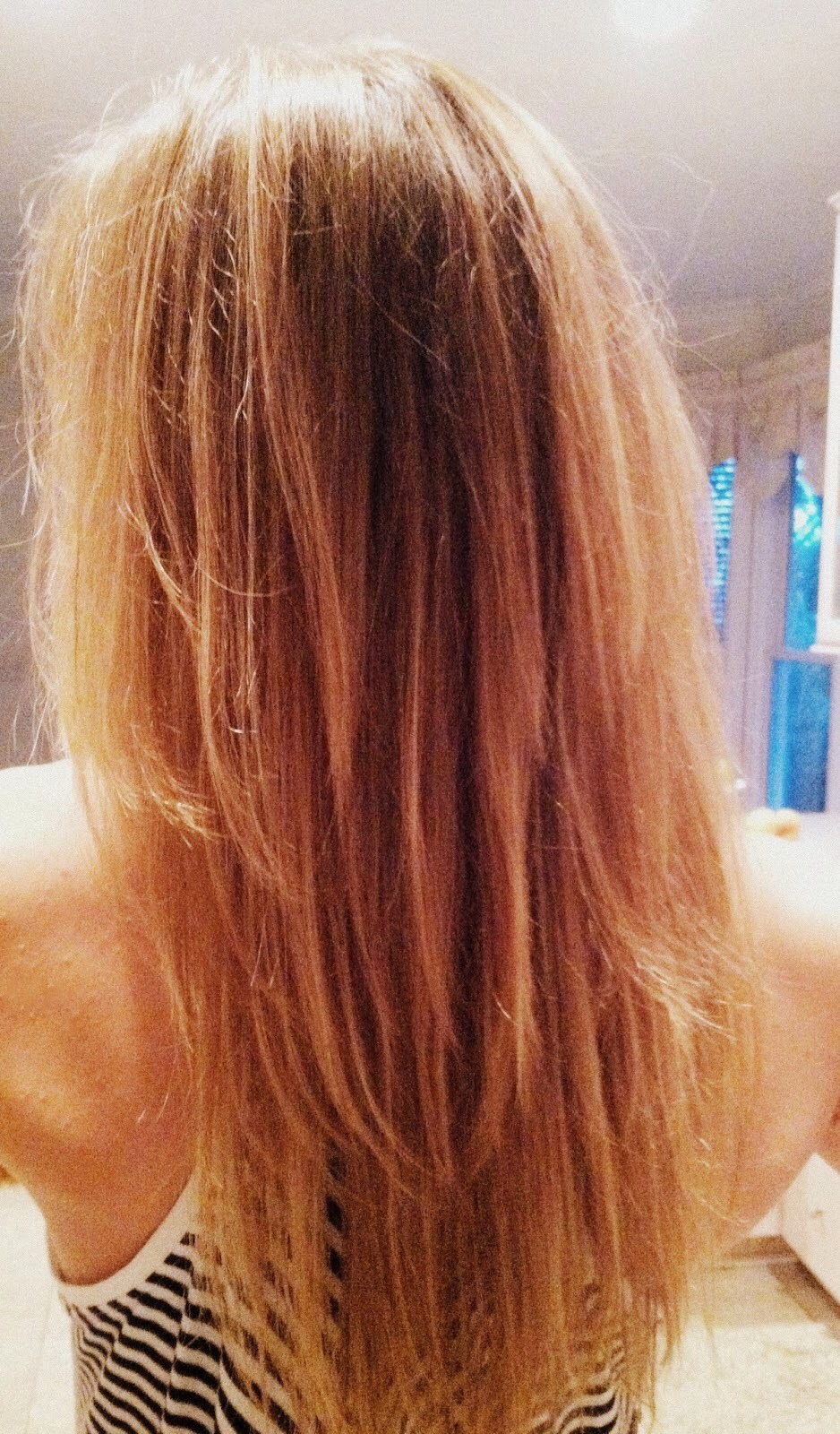 Dip your tips, or the hair you want lightened into the juice. Make sure you soak your hair!