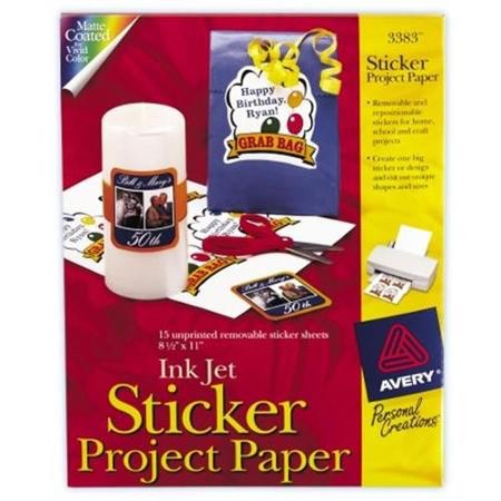 any kind of sticker paper and scissors
