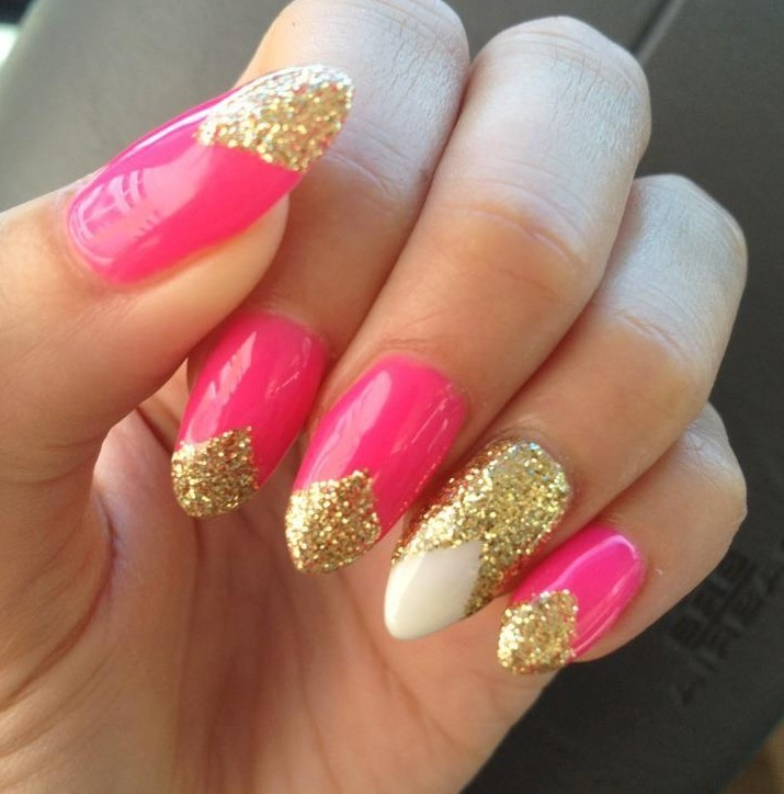 Your nails should look something like these with a different pattern.