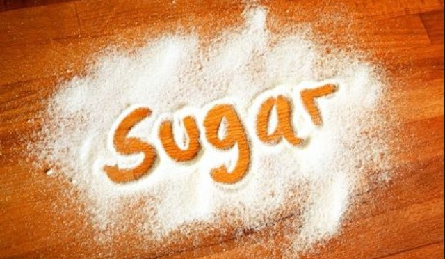 First you put two tablespoons of sugar in a small bowl