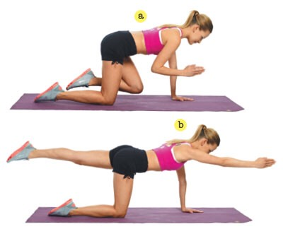 You should do this 25 times for each leg and arm