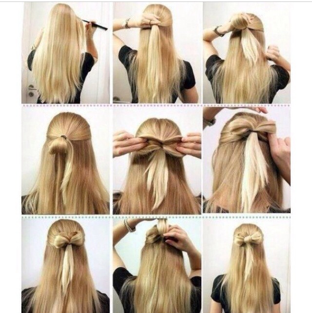 For a better look curl hair after making bow